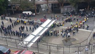Filtro de seguridad en el Estadio Azteca para el América vs Pumas
