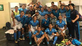 Jugadores del Pacific FC previo a un partido
