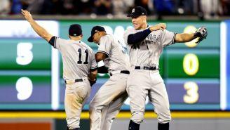 Jugadores de New York Yankees, en festejo