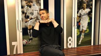 Ryan Reynolds en el vestidor del Real Madrid