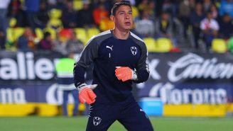 Hugo González en un partido de Monterrey