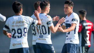 Pumas Sub 20 festeja gol contra Atlas en el C2018