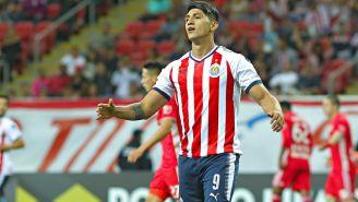Alan Pulido, lamenta jugada en Concachampions