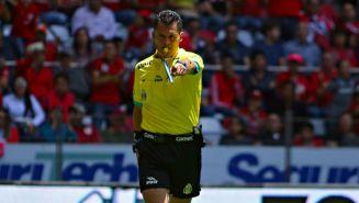 Jorge Antonio Pérez Durán, en un juego del Clausura 2018