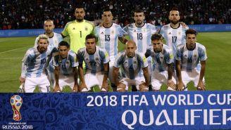 Jugadores de Argentina previo a un partido