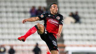Omar Mendoza, durante un juego del Clausura 2018 con Xolos