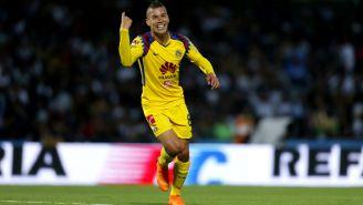 Mateus Uribe festeja gol con América