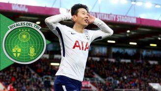Son celebra una anotación con los Spurs en Premier