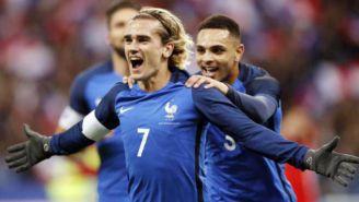 Griezmann celebra una anotación con la Selección Francesa