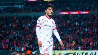 Ángel Reyna en un partido con Toluca