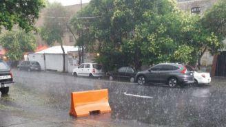Granizo y lluvia en la CDMX