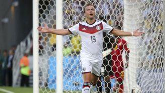 Mario Götze celebra un gol en la Copa del Mundo de Brasil 2014
