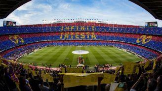 Así lució el Camp Nou