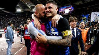 Icardi festeja triunfo frente al la Lazio