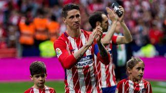 Fernando Torres en su despedida con Atlético