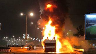 Autobús de Estrella Roja se incendia