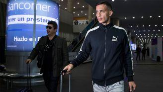 Marcone, durante su llegada al Aeropuerto Internacional de la CDMX