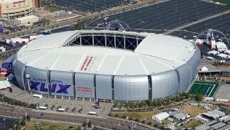 Vista aérea del estadio de la Universidad de Phoenix en Glendale, Arizona