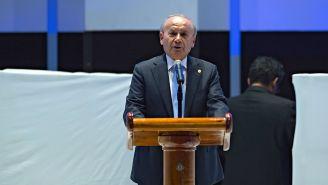 Billy Álvarez, durante una conferencia de prensa