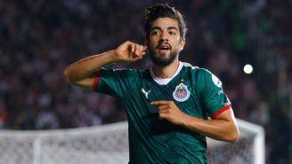 Rodolfo Pizarro, en festejo de gol en el partido contra Morelia del Clausura 2018