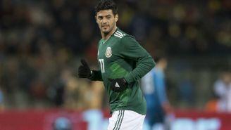 Carlos Vela corre en partido de la Selección Mexicana