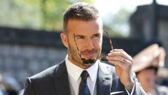 Beckham, durante la boda del príncipe Harry y Meghan Markle