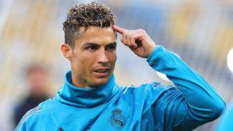 CR7 en un entrenamiento del Real Madrid