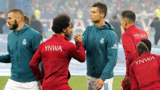 CR7 y Salah antes del inicio del encuentro