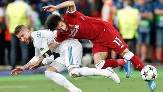Momento en que Sergio Ramos derriba a Salah en la Final de Champions