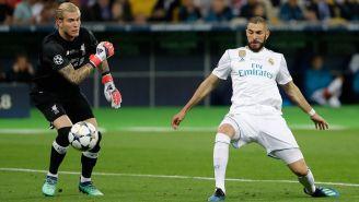 Benzema aprovecha el error de Karius