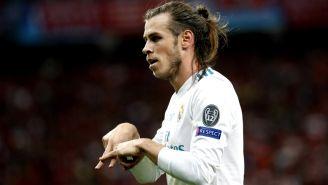 Gareth Bale festeja gol contra el Liverpool