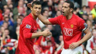 Ferdinand y Cristiano Ronaldo en su paso por el Manchester United