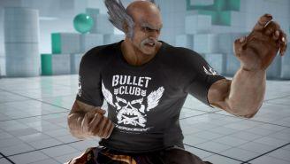 Personaje de Tekken 7 porta playera del Bullet Club
