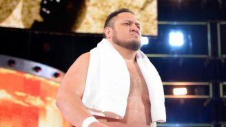 Samoa Joe previo a una lucha contra Roman Reigns