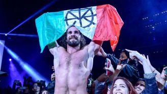 Rollins durante función de WWE
