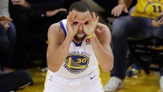 Stephen Curry durante el partido contra Cavs