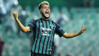 Luis Hernández celebra un gol con Tapachula