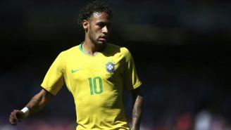 Neymar en un partido de Brasil