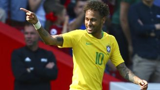 Neymar celebra gol contra Croacia