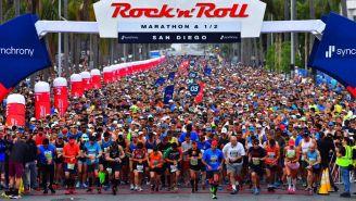 Corredores del Maratón Rock 'n' Roll en la línea de salida