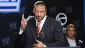 Triple H, durante una conferencia de prensa