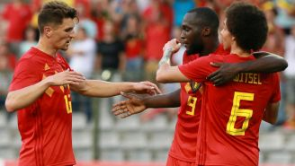 Bélgica festeja triunfo frente a Egipto