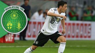 Özil en un partido de Alemania