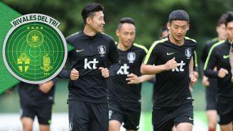 Jugadores de Corea durante un entrenamiento