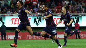 Jugadores del Atlante celebra gol