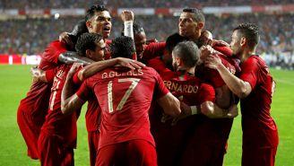 Portugal celebra doblete de Guedes