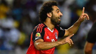 Salah en un partido con Egipto