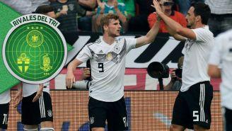 Alemania celebra una anotación contra Arabia Saudita