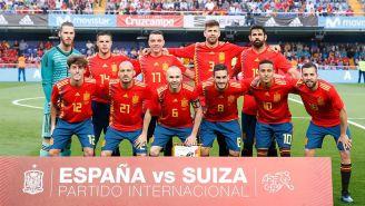 Foto oficial de la Selección de España en su juego frente a Suiza