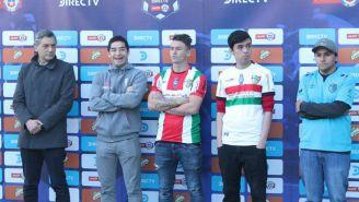 Cristián Álvarez y Roberto Gutiérrez en presentación de la Liga Profesional de Chile